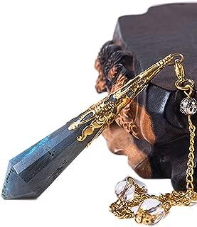 Natural Labradorite Pendulum for Dowsing Natural Stone Pendant Healing Crystals,Gold-Color