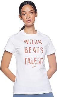Reebok womens Training Essentials Graphic Tee- Verbiage T-Shirt