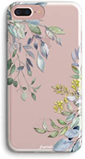 iPhone 6s Plus/6 Plus Girls Women Case,Cute Spring Eucalyptus Leaves Love Summer Tropical Palm Tree Yellow Blue Flowers Floral Chic Trendy Simple Compatible Clear Soft Case for iPhone 6s Plus/6 Plus