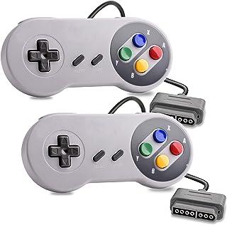 SNES USB Controller, YUMQUA 2 X Retro Super Classic Controller for Windows PC Mac Gamepad