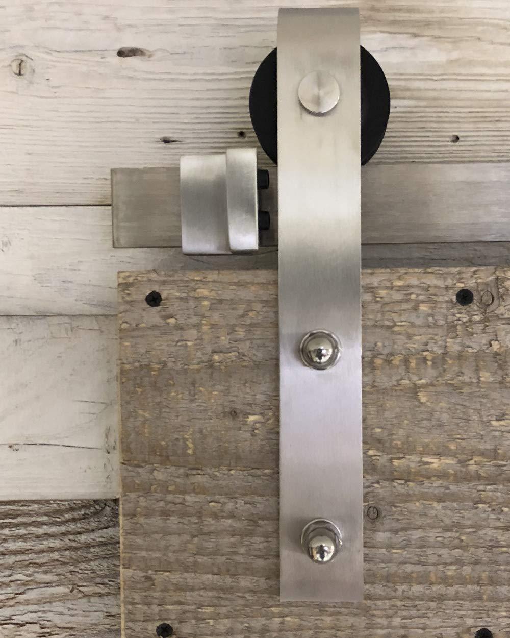 Sistema de puerta corredera recta 200 cm – Juego completo con ruedas y carril – Sistema de puerta corredera recta de 2 metros – 3 colores: Amazon.es: Bricolaje y herramientas