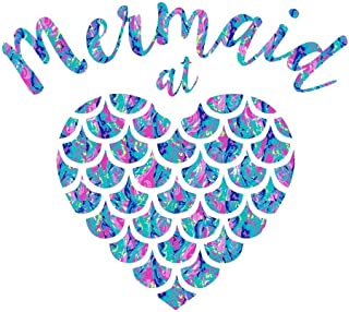 Soul of A Mermaid Mouth of A Sailor Vinyl Decal Sticker Car Truck Van SUV Window Wall Cup Laptop MKS0691B One 5.5 Inch Black Decal