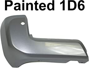 For Toyota Tacoma 2016-2019 Rear Bumper End Painted 1D6 Silver Sky Metallic With Sensor Hole Lh TO1104138