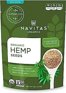 Navitas Naturals, Hemp Seeds Kashmir Superfood Organic, 8 Ounce