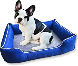 Dog Bed for Small Medium Dog,Waterproof Dog Sofa Memory Foam Dog Couch Bed,Pet Bolster Machine Washable Removable Cover Ch...
