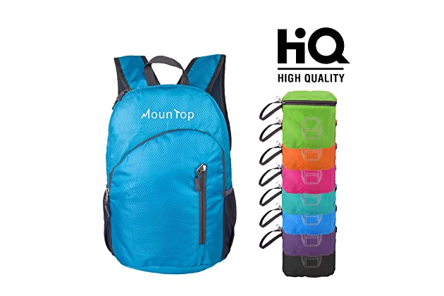 5d66bbbe9fcb mountop Ultra Lightweight Foldable Packable Durable Water Resistant Travel  Hiking Backpacks Daypacks 20L