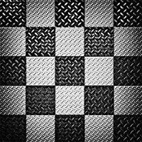 lfeey 6x 6ft肖像画のブラックとホワイトチェッカーBackdrops SquareメッシュChequered Flagメタルパターン抽象背景写真Kidsガールズフォトスタジオ小道具