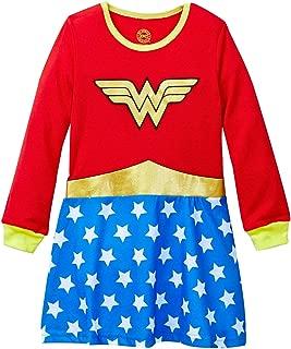 DC Comics Wonder Woman Little Girls Long Sleeve Roller Derby Nightgown