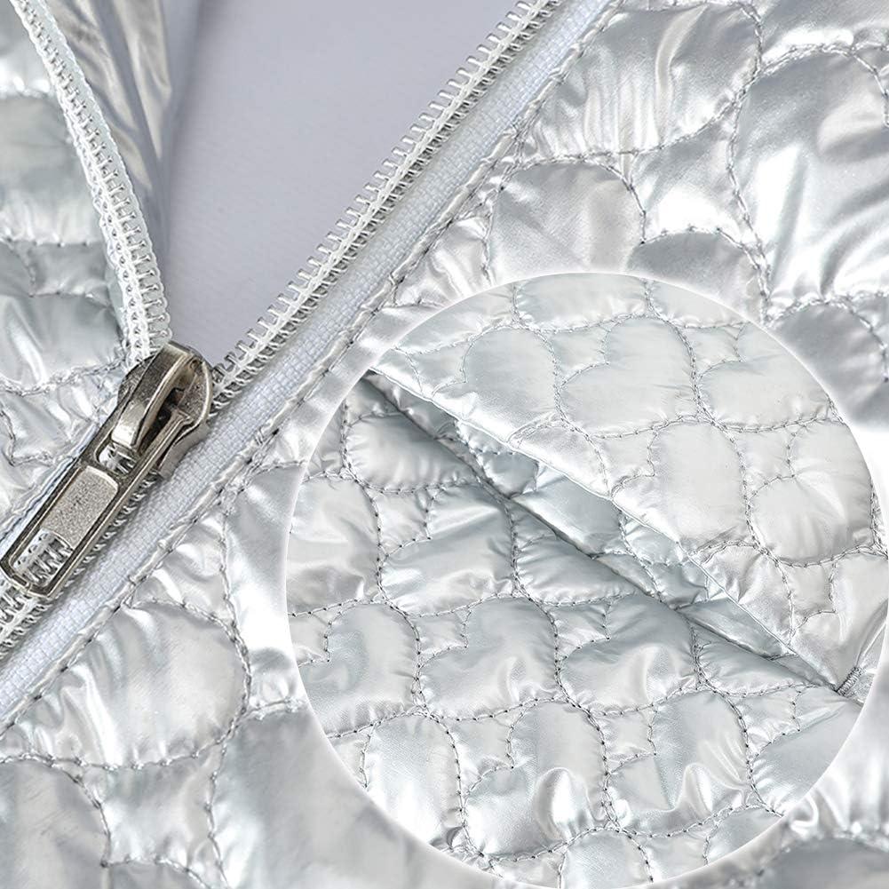 SNOW DREAMS Girls Winter Coat Lightweight Snow Jacket Faux Fur Hood Puffy Waterproof Windproof Outerwear