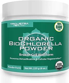 Organic Chlorella Powder - 4 Organic Certifications, Raw Form & Sun Grown   Guaranteed Best Source of Chlorella, Maximum Nutrient & CGF Levels (Chlorella Growth Factor) - 75 Servings