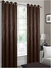 CHD Home Textiles Bellport Curtain Panel Brown