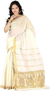 e-VASTRAM Cotton with Blouse Piece Saree