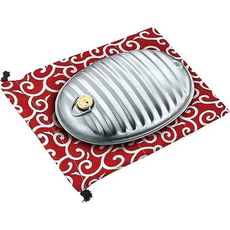 マルカ 湯たんぽ 和柄 エンジ 約幅32.7×奥行23.8×高さ8.5cm 湯たんぽA(エース) 2.5L 袋付 023453