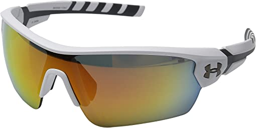 Satin White/Charcoal Gray Frame/Gray/Orange Multiflection Lens
