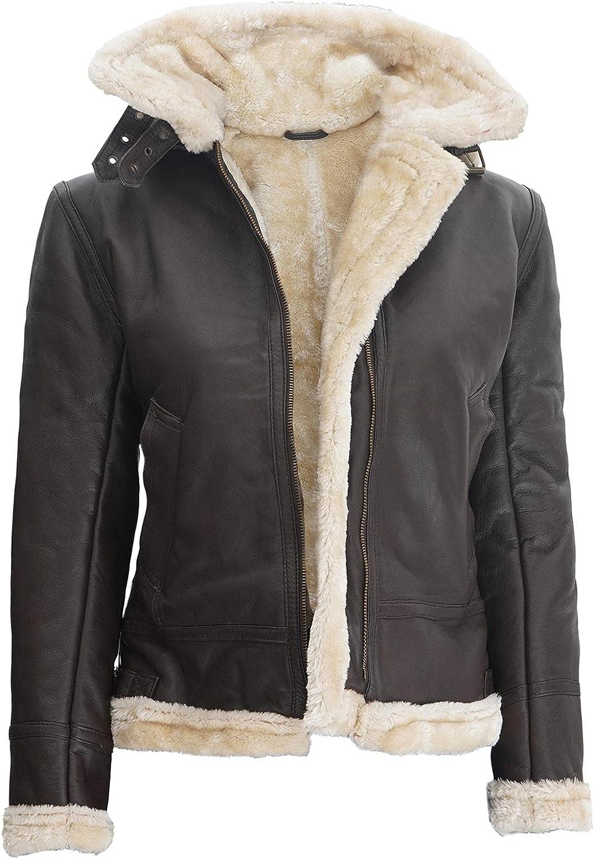 Blingsoul Winter Real Leather Shearling for Women Jacket Daily bargain sale Popular standard