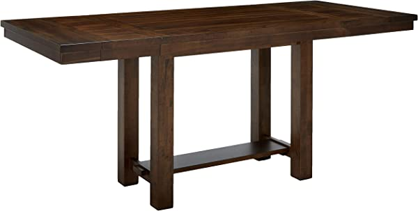 Ashley Furniture Signature Design Moriville Counter Height Dining Room Table Grayish Brown