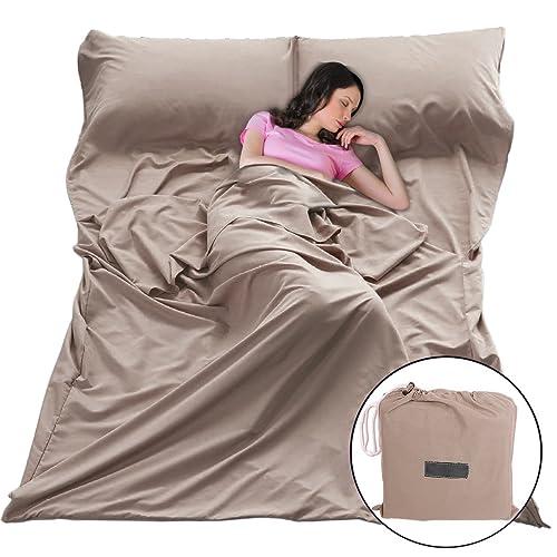 Sleeping Bag Liners Sleep Sack Lightweight Portable Sleeping Sheet Dirt-Proof Compact Travel Camping Sheet