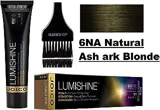 Joico LUMISHINE Repair+ PERMANENT Creme Hair Color (with Sleek Applicator Brush) Cream Haircolor (6NA Natural Ash ark Blonde)