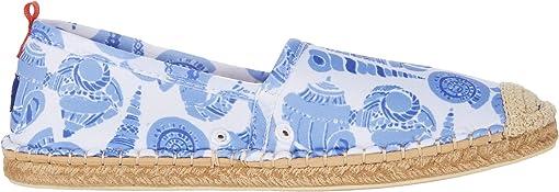 Caribbean Blue Shell Print