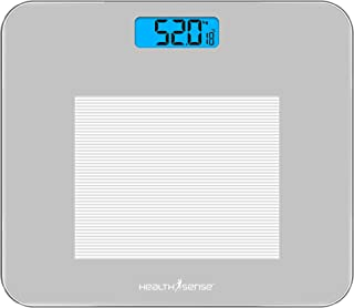 HealthSense Dura-Glass PS 115 Digital Personal Body Weighing Scale, Best Electronic Bathroom Scales & Weight Machine for H...