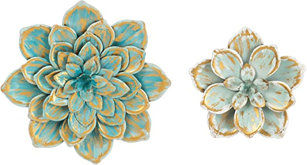 Cape Craftsmen Set Of 2 Multiple Layer Metal Wall Flower