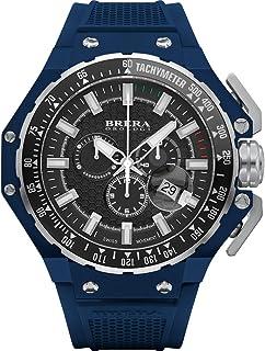 BRERA OROLOGI - Reloj de Cuarzo Analógico para Hombre con Correa de Goma Mod. Granturismo Brgtc5413