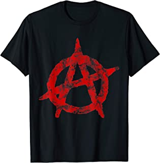 Anarchist Symbol Distressed Political Anarchy Rock Star Gift T-Shirt