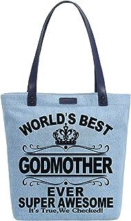 So'each - Bolsas de hombro para mujer con estampado de madrina Azul azul Medium