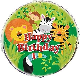 """Unique Party 52167 - 18"""" Foil Animal Jungle Party Balloon"""