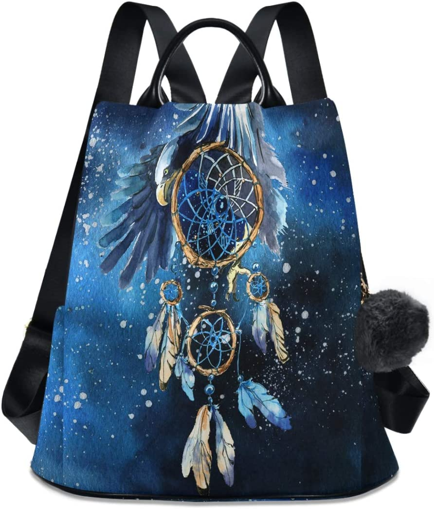 ALAZA Dream Catcher and Eagle In Ant Sale Special Price Ranking TOP4 Purse Space Galaxy Backpack