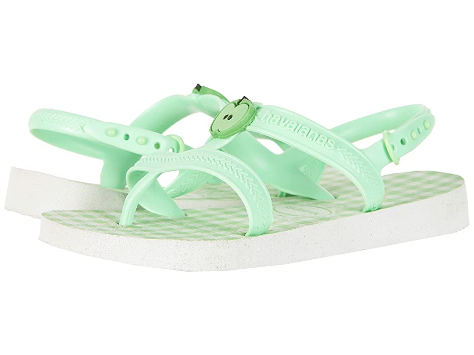 Havaianas Kids Joy Spring Sandals (Toddler/Little Kid/Big Kid) (White/Hydrogreen) Girls Shoes