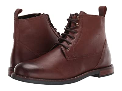Ben Sherman Birk Plain Toe Boot (Dark Brown Leather) Men