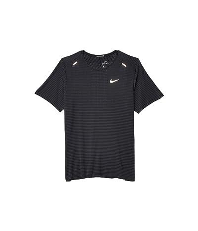 Nike Techknit Ultra Short Sleeve (Black/Dark Smoke Grey/Reflective Silver) Men