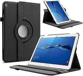 Infiland Huawei Mediapad M3 Lite 10 Funda Case, Rotating Case Cascara Delgada para Huawei Mediapad M3 Lite 10 (10.1 Pulgada) Tablet(con Auto Reposo/Activación Función)(Negro)