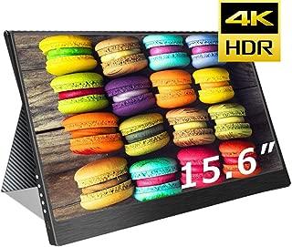 cocopar最新15.6インチ4k NTSC72%色域 モバイルモニター3840*2160 モニター USB Type-C / PS4 XBOXゲームモニタ/HDMIモバイルディスプレイ(厚さ4mm / 重さ830g) 保護ケース付重さ1.2kg (15.6-4K-NTSC 72%)