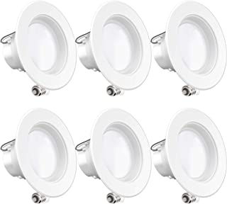 Sunco Lighting 6 Pack 4 Inch LED Recessed Downlight, Baffle Trim, Dimmable, 11W=40W, 4000K Cool White, 660 LM, Damp Rated, Simple Retrofit Installation - UL + Energy Star