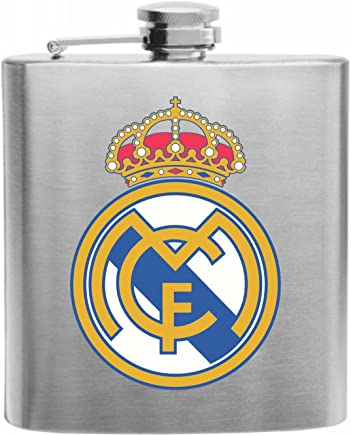 Real Madrid Spain Football Soccer Club Stainless Steel Hip Flask 6oz Gift