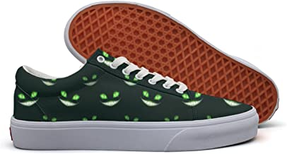 Cool Monster Faces Women's Casual Sneakers Canvas Slip On Low Top Designer