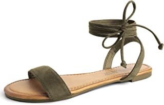 Tie Up Ankle Strap Flat Sandals for Women