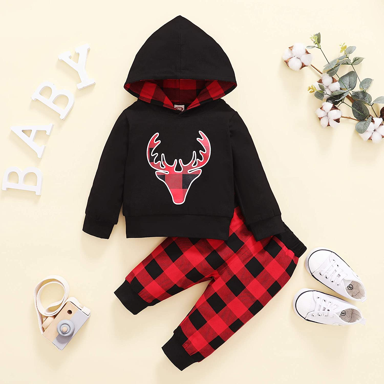 Kucnuzki Baby Boys Clothes Toddler Boy Fall Winter Outfits Dinosaur Hoodie Pants Set Long Sleeves Infant Sweatsuit