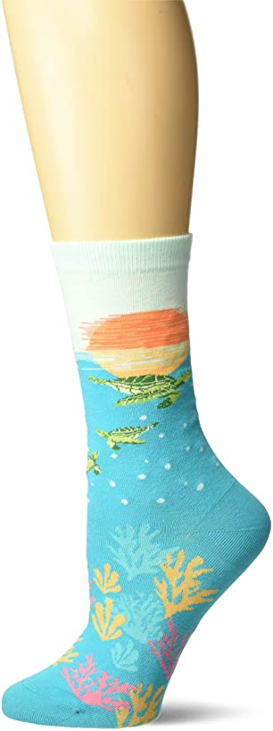 K. Bell Socks Women's Playful Sealife Novelty Fashion Crew Socks