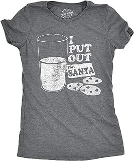 Crazy Dog T-Shirts Womens I Put Out for Santa Tshirt Funny Christmas Tee