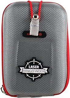 Navitech Grijs EVA-afstandsmeter Harde Koffer/Hoes Met Karabijnhaak - compatibel met de Mileseey Professional Precision La...