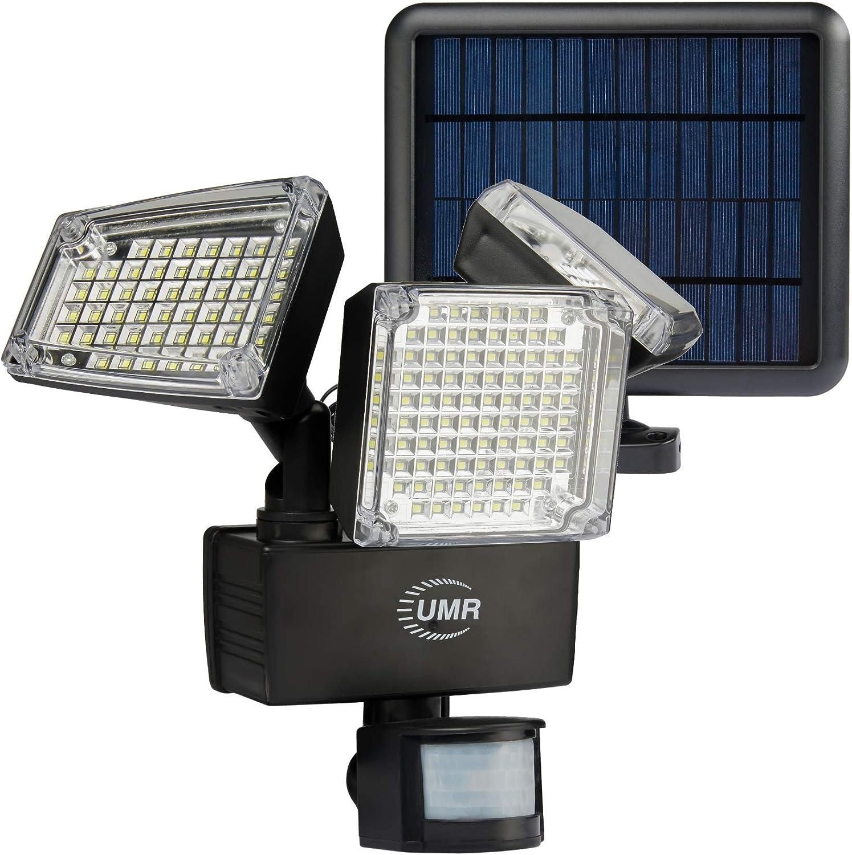 UMR 3-Head Super Bright Nippon regular agency Sale Special Price 188 LED Garage Security Ligh Solar Flood