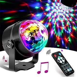 SunTop Partylicht discobal led partylamp muziekgestuurd disco lichteffecten disco licht partylicht met afstandsbediening