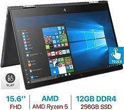 HP Envy x360 15.6'' Touchscreen 2-in-1 FHD (1920x1080) Laptop PC, Quad Core AMD Ryzen 5 2500U up to 3.6GHz, 12GB DDR4 SDRAM, 256GB SSD, Backlit Keyboard, B&O Play, HDMI, Bluetooth, Windows 10