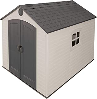 Lifetime 6405 8 by 10-Foot Outdoor Storage Shed with Window, Skylights, and Shelving
