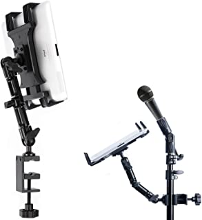 TACKFORM Tablet Mount for Microphone Stand - Professional Grade Holder - Compatible With iPad, Galaxy Tab, and More.