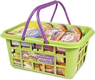 CASDON Shopping Basket Playset, Green/Purple