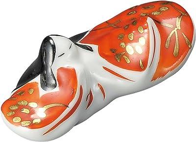 宗峰窯 陶器 箸置 姫 赤 2.5×6×2.5cm 375-03-233